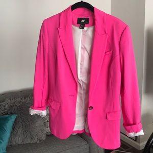 Pink H&M blazer jacket